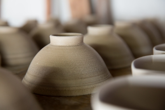 making pottery in Yamagata